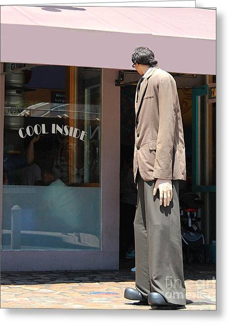 Humorous Greeting Cards Photographs Greeting Cards - Big And Tall Store Greeting Card by Joe Jake Pratt