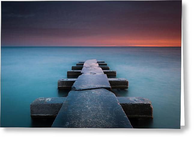 Milwaukee Greeting Cards - Big Bay Greeting Card by Josh Eral