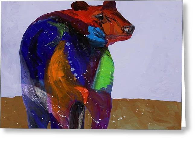 Big Bear Greeting Card by Tracy Miller