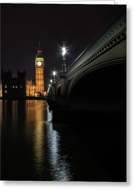 Illuminate Greeting Cards - Big Ben -  2 Greeting Card by Chris Smith