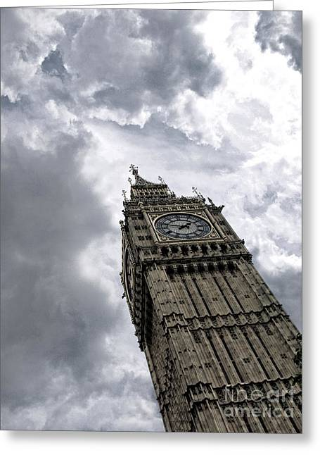 Filter Art Greeting Cards - Big Ben Greeting Card by Andreas Berheide