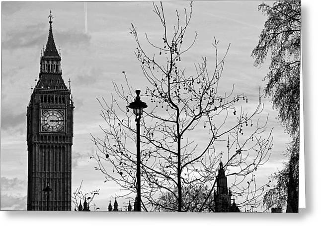 Large Clocks Greeting Cards - Big Ben at Dusk Greeting Card by Reisehu