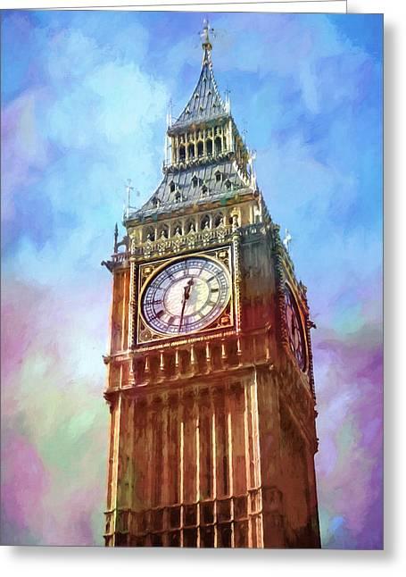 Big Ben In Colors Greeting Card by Lutz Baar