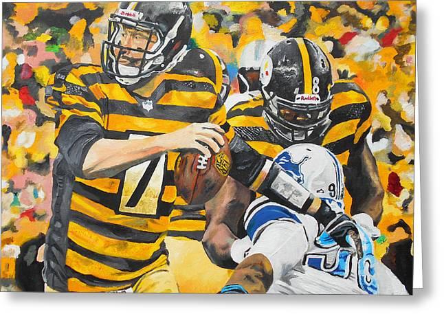 Pittsburgh Artwork. Greeting Cards - Big Ben Greeting Card by Kevin J Cooper Artwork