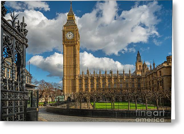 Big Ben London Greeting Card by Adrian Evans