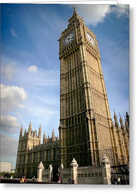 Famous Bridge Greeting Cards - Big Ben London Greeting Card by Georgi Djadjarov