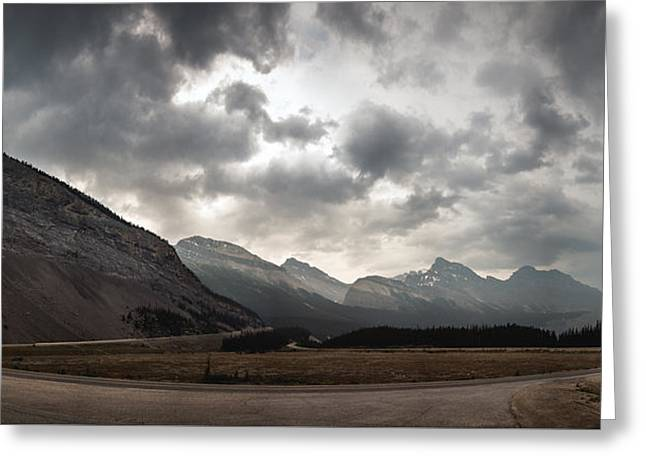 Storm Clouds Greeting Cards - Icefields Parkway Greeting Card by Cale Best
