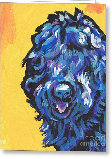 Modern Russian Art Greeting Cards - Big Blackie Greeting Card by Lea