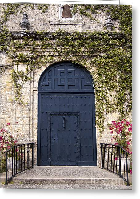 Recently Sold -  - Entrance Door Greeting Cards - Big Blue Door Greeting Card by Grant Gannon