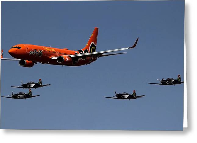 Big Brother Fly Pass Greeting Card by Sean Presher-Hughes