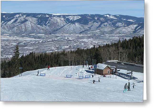Ski Art Greeting Cards - Big Burn Snowmass Greeting Card by Bill Kennedy
