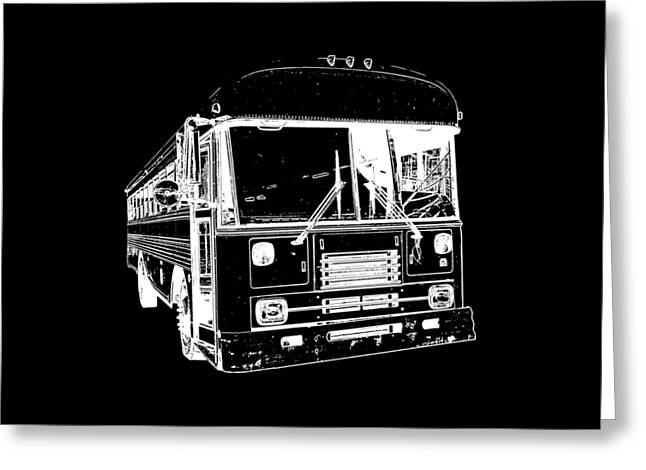 Bus Greeting Cards - Big Bus Tee Greeting Card by Edward Fielding