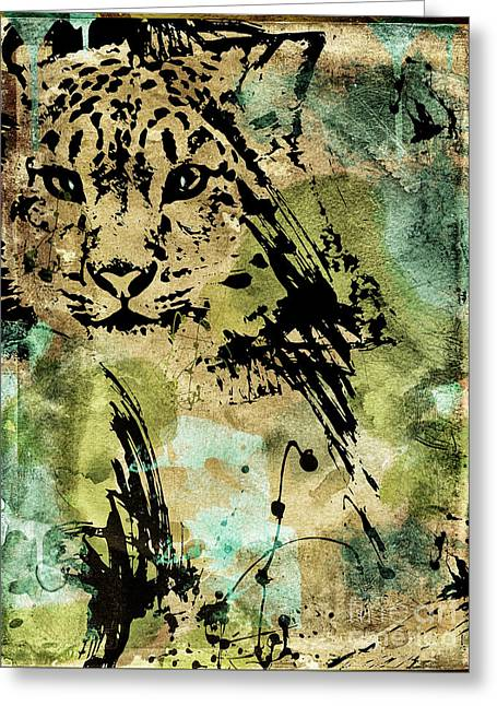 Big Cat Greeting Card by Mindy Sommers