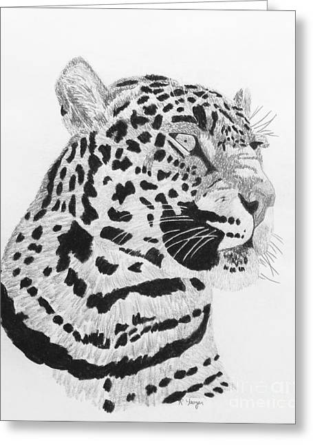 City Art Greeting Cards - Big Cat Greeting Card by Robert Yaeger