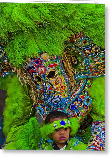 Big Chief Little Chief Greeting Card by Roy Guste
