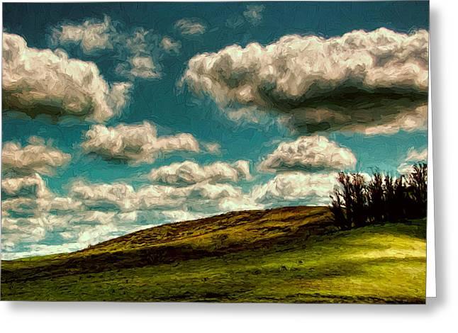 Sonoma County Digital Greeting Cards - Big Clouds Greeting Card by John K Woodruff