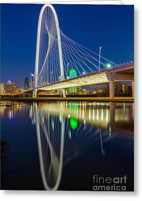 Big D By Night Greeting Card by Inge Johnsson