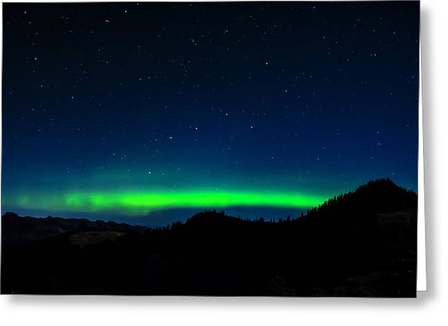 Big Dipper Northern Lights Greeting Card by Pelo Blanco Photo