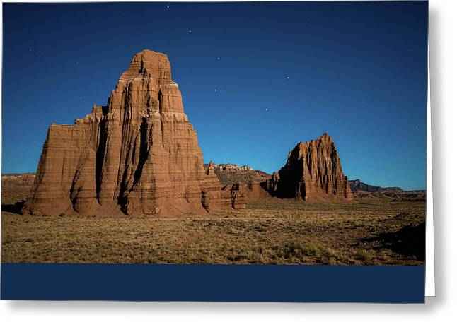 Big Dipper Over Capitol Reef National Park Greeting Card by James Udall