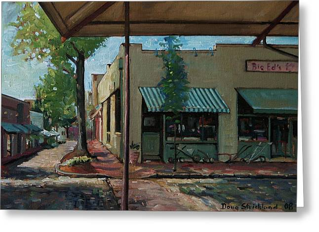 Big Eds Cafe Raleigh Nc Greeting Card by Doug Strickland