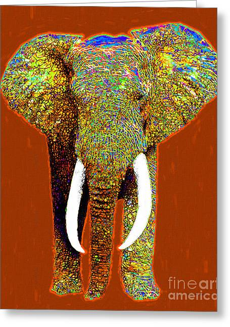 Big Elephant 20130201p20 Greeting Card by Wingsdomain Art and Photography