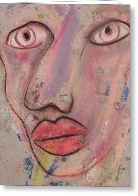Robert Daniels Paintings Greeting Cards - Big Eyes Greeting Card by Robert Daniels