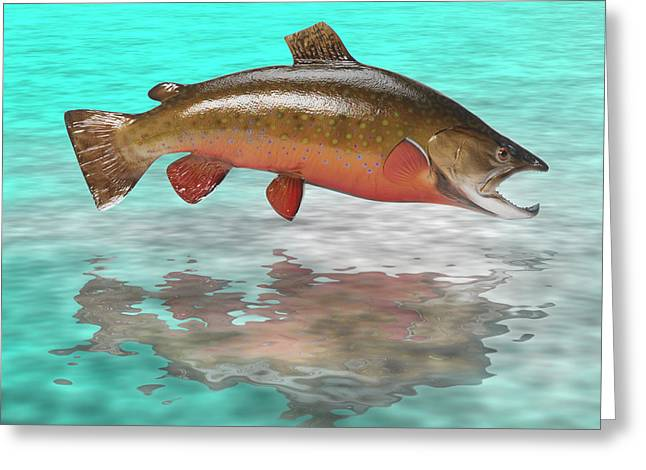 Water Scape Greeting Cards - Big Fish Greeting Card by Jerry McElroy