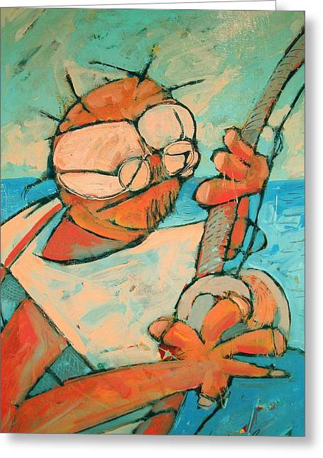 Swordfish Paintings Greeting Cards - Big Game Sport Fishing Greeting Card by Charlie Spear