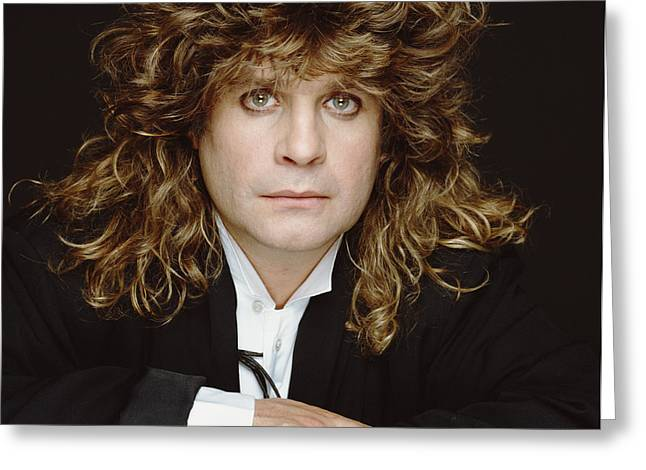 Big-haired Ozzy Greeting Card by Terry O'Neill