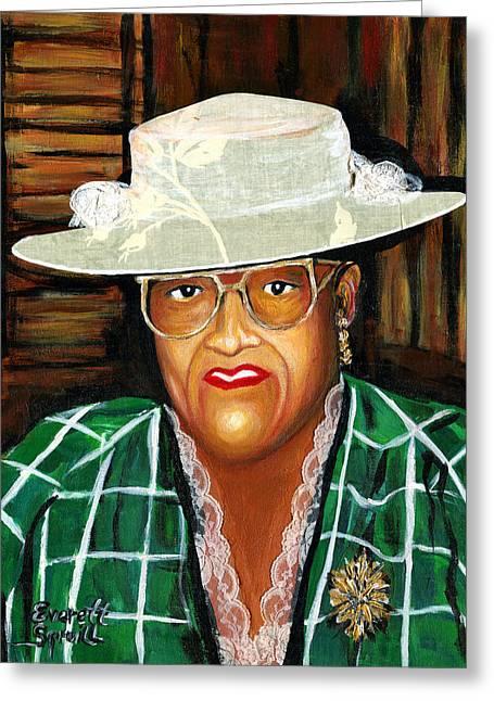 Everett Spruill Greeting Cards - Big Ma - The Matriarch Nancy Wilder Greeting Card by Everett Spruill