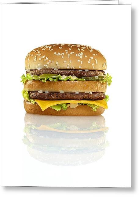 Cheeseburger Greeting Cards - Big Mac Greeting Card by Geoff George