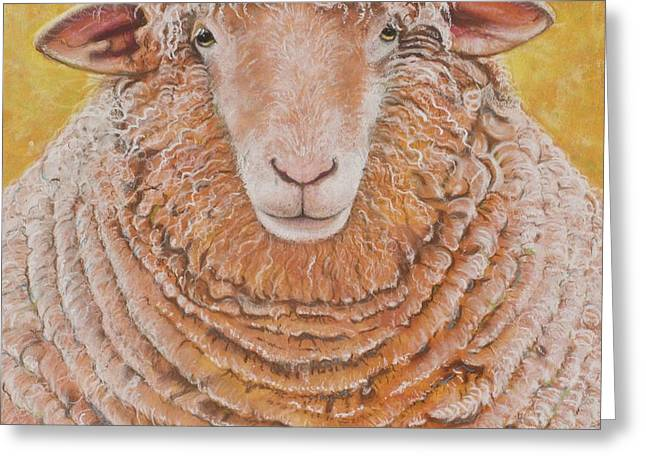 Farm Animals Pastels Greeting Cards - Big Max Greeting Card by Christine Belt