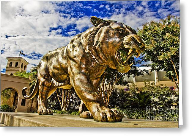 Mike The Tiger Greeting Cards - Big Mike Greeting Card by Scott Pellegrin