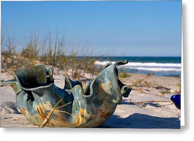 Beaches Ceramics Greeting Cards - Big Momma Greeting Card by Gibbs Baum