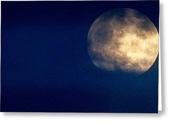 Sea Moon Full Moon Greeting Cards - Big Moon in the Clouds Greeting Card by Robert Abbett