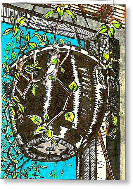 Purchase Greeting Cards - Big Pot Greeting Card by Al Goldfarb
