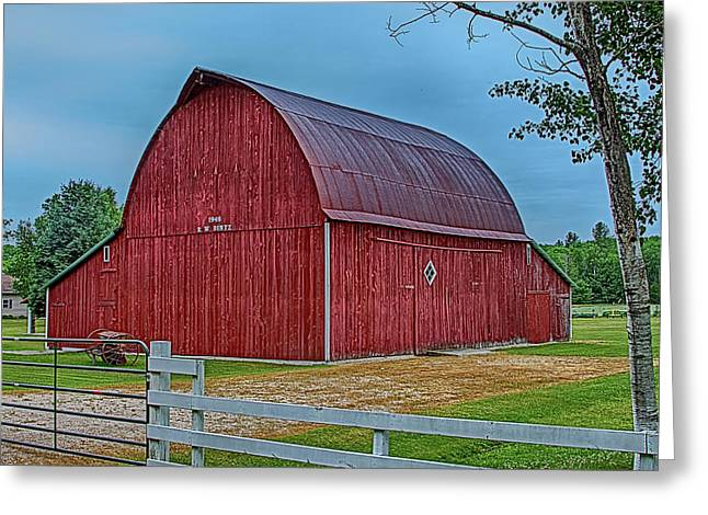 Big Red Barn At Cross Village Greeting Card by Bill Gallagher