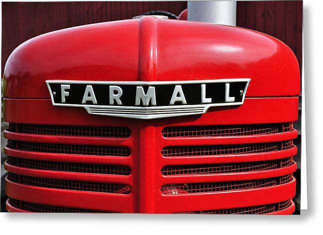 Mccormicks Farm Greeting Cards - Big Red Farmall Greeting Card by Luke Moore