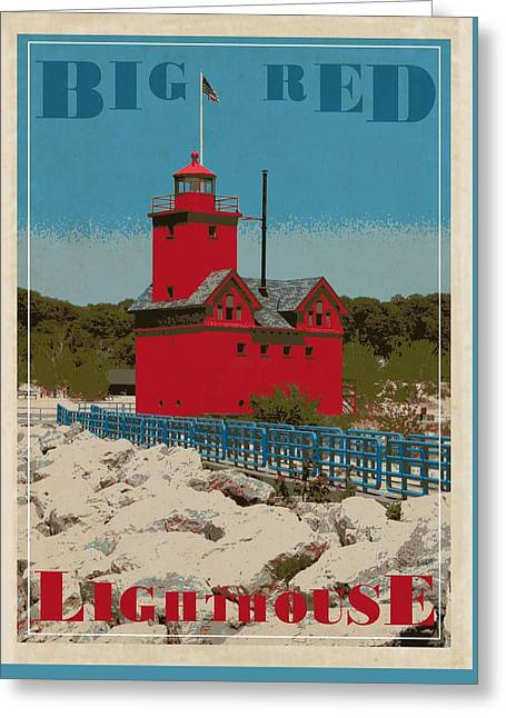 Michelle Greeting Cards - Big Red From the Pier Greeting Card by Michelle Calkins