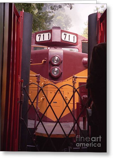 Diesel Locomotives Greeting Cards - Big Red Greeting Card by Richard Rizzo
