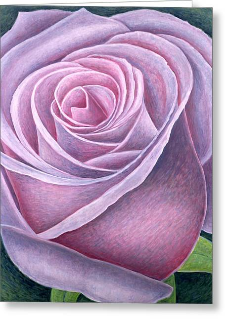 Close Up Paintings Greeting Cards - Big Rose Greeting Card by Ruth Addinall