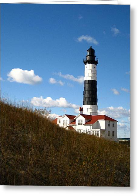 Historic Site Greeting Cards - Big Sable Point Lighthouse 6 Greeting Card by Cindy Kellogg
