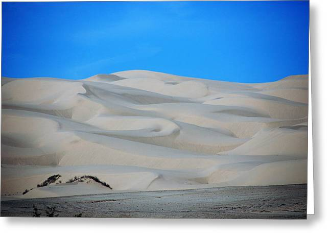 Mountains Of Sand Greeting Cards - Big Sand Dunes in CA Greeting Card by Susanne Van Hulst