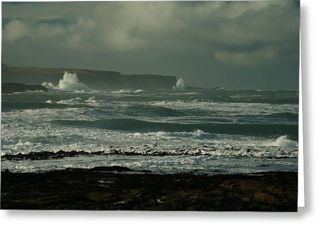 Big Sea. Slope Point Greeting Card by Terry Perham
