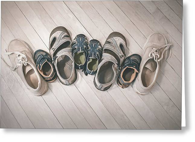 Big Shoes To Fill Greeting Card by Scott Norris