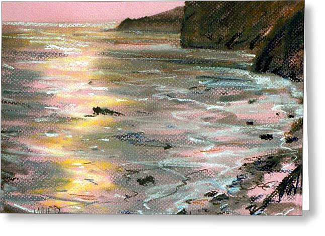 Big Sur Greeting Cards - Big Sir Sunset Greeting Card by Donald Maier