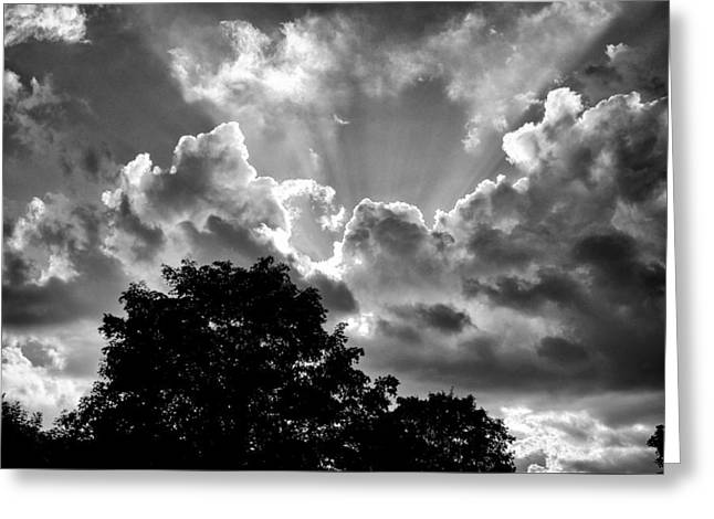 A Summer Evening Greeting Cards - Big Sky Ohio Greeting Card by Frank Staigl III