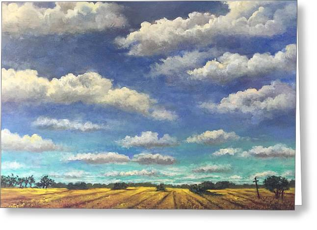 Big Sky Greeting Card by Randol Burns