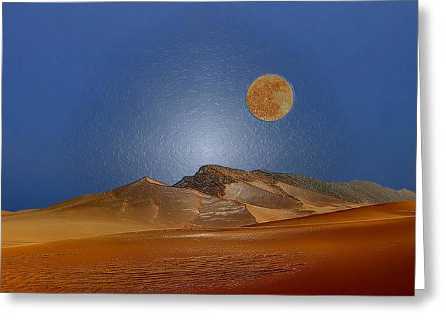 Sahara Sunlight Greeting Cards - Big Sky Greeting Card by Scott Mendell