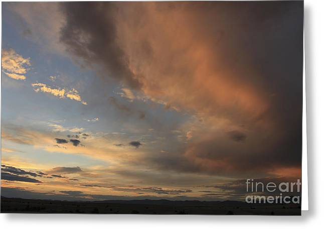 Big Sky Sunset 2 Greeting Card by Carolyn Brown